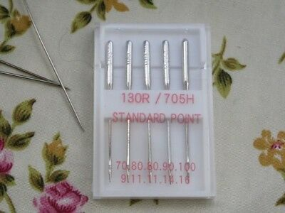 Universal Mixed Sewing Machine Needles, 70-100's, Fine, Normal, Heavy,