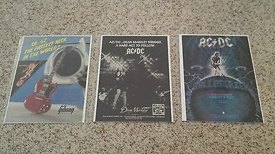 AC/DC - Angus Young  Promo Magazine Ad Lot