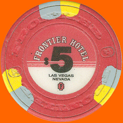 Frontier $5 1988 Obsolete Casino House Chip Las Vegas Nv - Free Shipping