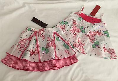 CATIMINI - Sweet Baby Girls 6 mths SKIRT & TOP 2pc SUMMER SET/OUTFIT - NWT