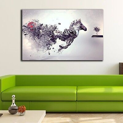 Abstract Zebra Stretched Canvas Prints Framed Wall Art Home Decor Painting