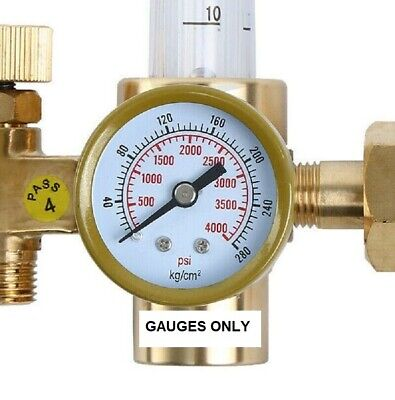 "1-1/2"" pressure gauge 1.5"" Replacement flow meter gauge 0-4000 PSI, ST-1.5-4000"