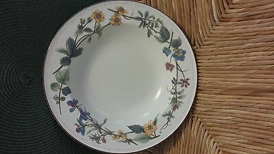 """MIKASA Heritage Spring Tradition CAB02 Rimmed SOUP OR SALAD 9"""" BOWL Flowers"""