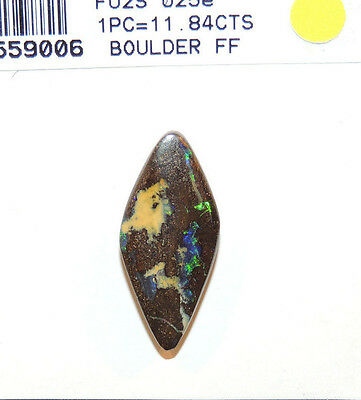 Boulder Opal 26x11.5mm with 5.5mm dome over 11cts. from Australia (10034)