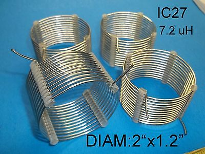 """RF Inductor, Air Coil, 7.2 uH, 2""""X1.5"""", Price for 4, AWG 16, (IC27)"""