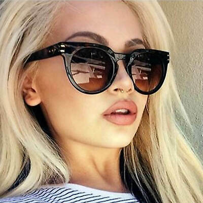 Designer Inspired Round Oval Sunglasses Plastic Retro Frame Women Fashion