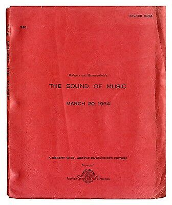 SOUND OF MUSIC, THE Vntg script Rev Final Mar 20, 1964 Rodgers and Hammerstein
