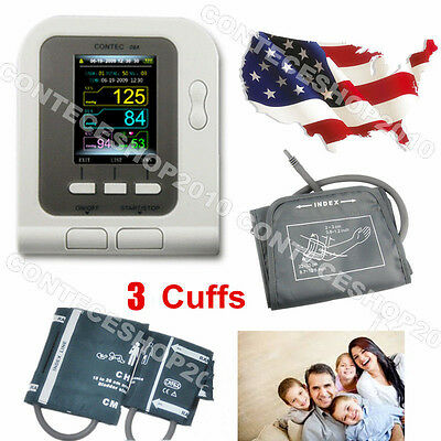 US Sell LCD Arm Digital Blood Pressure Monitor NIBP Adult Infant Child Cuff FDA