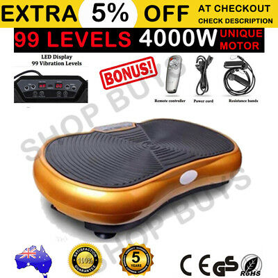 NEW 2400W Ultra Slim Vibration Machine Plate Platform Body Shaper Exercise Gold