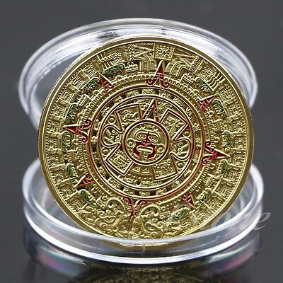 NEW Mayan Aztec Prophecy Calendar Commemorative Coin Art Collection Gift