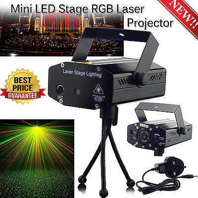 Mini Music Active LED Stage Disco Lighting Laser Projector Xmas DJ Party Lights