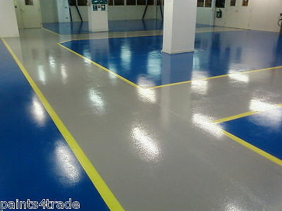 2 PACK EPOXY RESIN GARAGE & INDUSTRIAL FLOOR PAINT - 100's OF COLOURS