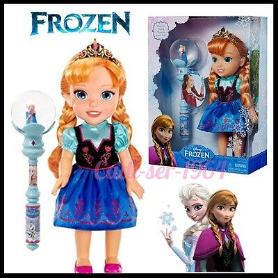 Disney Frozen Toddler Anna Doll with Musical Snow Wand NEW Doll Musical 12.5""