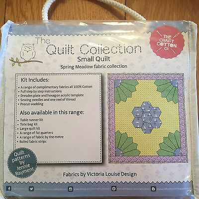 The Craft Cotton Co Quilt Collection SPRING MEADOW Fabric Small Quilt Kit BLUE