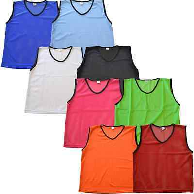Direct Soccer Training Bibs - Pack of 10 - Mesh Football Rugby Hockey Adult Kids