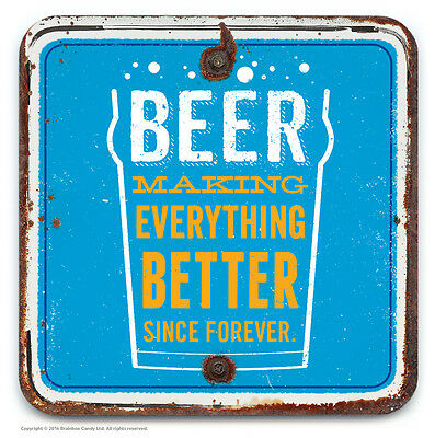 Brainbox Candy novelty beer drinks mat coaster funny dad cheap present gift