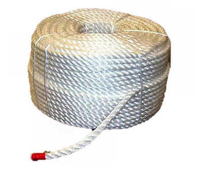 24mm WHITE POLYPROPYLENE BOUNDARY ROPE - Various Lengths