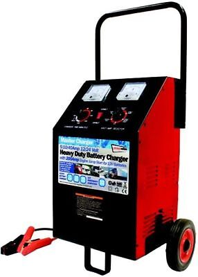 Streetwize 200/40/10/2A Automatic Wheeled Battery Charger - Garage Workshop