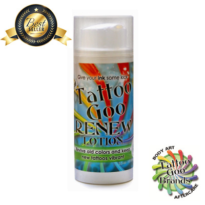 TATTOO GOO RENEW Aftercare Lotion - Revive old tattoos & keep new ones vibrant