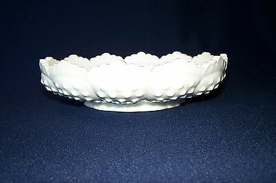Vintage 1980 Fenton Milk Glass Hobnail 3778 Ashtray Chip N Dip Candle Bowl Combo