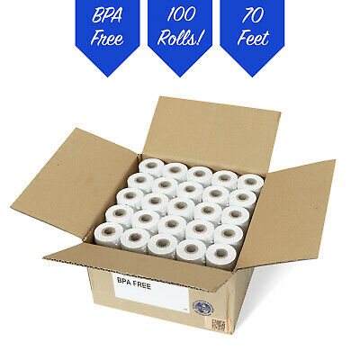 "2 1/4"" x 70' Thermal Receipt Paper 100 Rolls **FREE SHIPPING**"