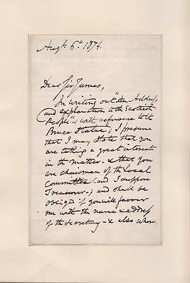"""GEORGE CRUIKSHANK AUTOGRAPH LETTER SIGNED 4 1/2"""" x 7"""" 3 pages on 2 COA"""