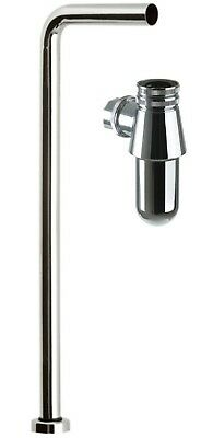 Traditional Basin Sink Chrome Brass Waste Bottle Trap Tube To Floor Pipe Set