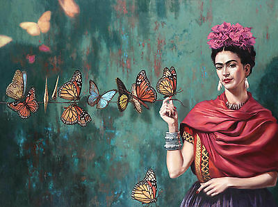 Frida Kahlo 1 Gloss Poster Print - Size A3 297X420Mm Plus A Free Surprise Poster