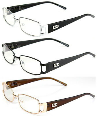 Mens Womens DG Eyewear Clear Lens Frame Glasses Rectangular Designer Fashion RX