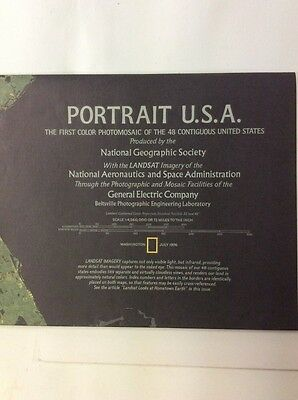 Vintage July 1976 National Geographic Map Portrait USA Poster U.S.A
