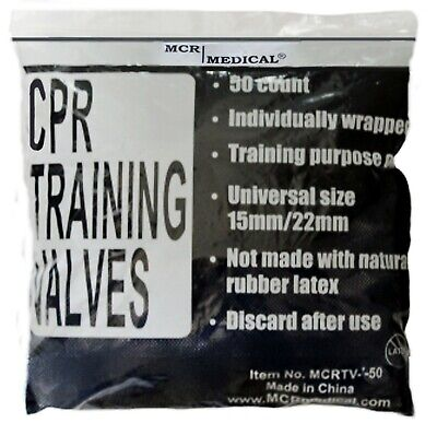 50 Pack CPR Training Valves -  for Pocket Rescue Mask Training with CPR Manikins