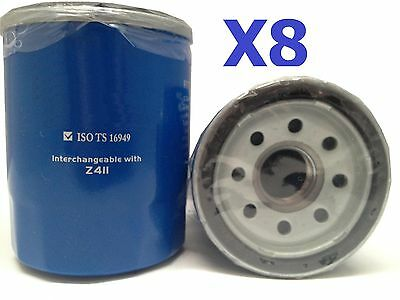 8X Oil Filter Suits Z411 FORD KIA MAZDA MITSUBISHI PROTON