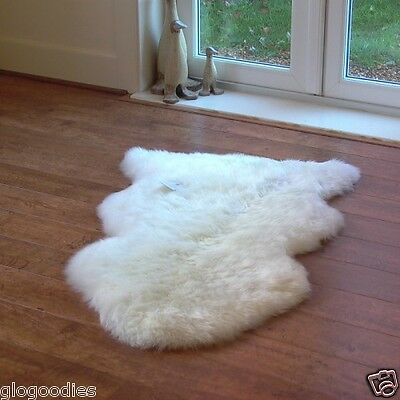 Real Thick Shaggy Sheepskin Rug - Natural Sheepskin - Range of sizes