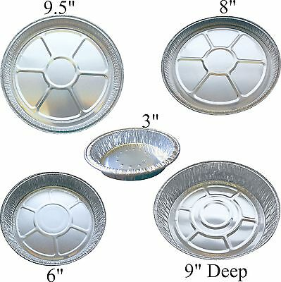 Foil flan dishes aluminium round trays for quiche pies baking cheescake flans