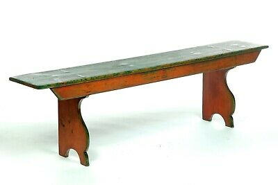 Primitive Painted Bench | 19th cen. Americana