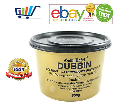Gold Label Dubbin Leather Waterproofs Softens Preserves Boots Tack Shoes 200G