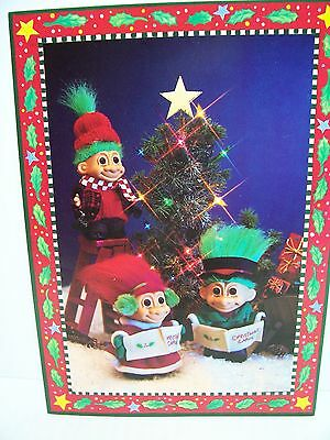 RARE SET OF FOUR RUSS TROLL DOLL VALENTINE NOTE CARDS New