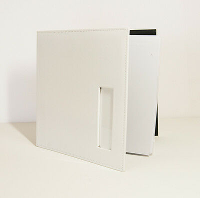 Photo Booth Scrapbook, 12x12 White leather Photo Booth album, 25 White pages