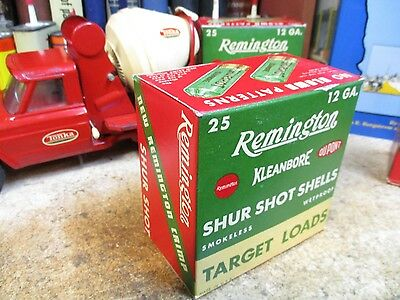 REMINGTON SHUR SHOT KLEANBORE empty 12GA TARGET SHOTGUN SHELLS shot shell  box