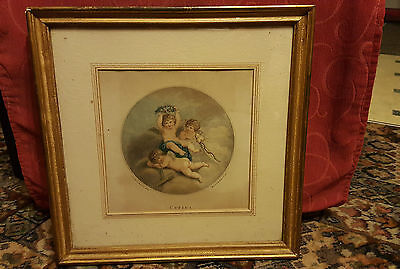 Antique Stipple Engraving Circa 1800 after Lady Dians Beauclerk - E Bartolozzi