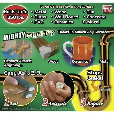 Mighty Putty 3-Pack Tubes Bonding Epoxy Fix Fill Seal Repair