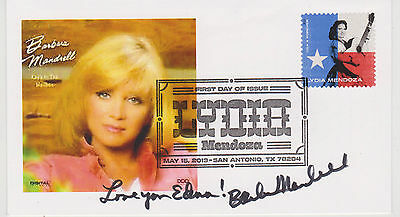 Signed Barbara Mandrell Fdc Autographed First Day Cover