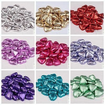 FOIL HEARTS Wrapped Milk Chocolate High Quality Wedding Party Table Favours