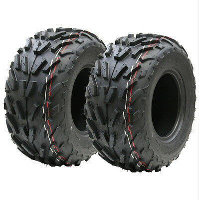 Two (pair) 16x8.00-7 quad tyres, 16 x 8-7 ATV  E marked road legal tyre 7 inch