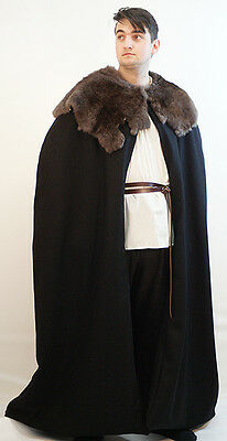 Medieval-SCA-Larp-John Snow-Night Watch-WINTER IS COMING CLOAK One Size