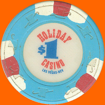 Holiday Casino $1 1988 Obsolete Casino Chip Las Vegas Nv - Free Shipping