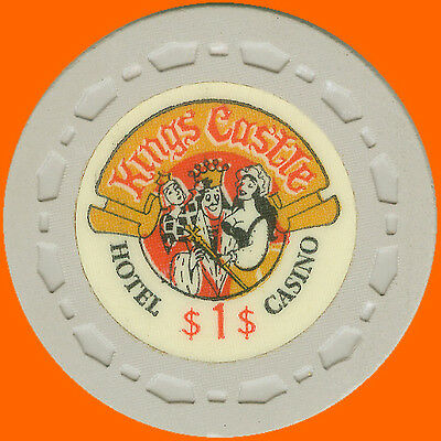 King's Castle $1 1970 Obsolete Casino Chip Lake Tahoe Nv - Free Shipping