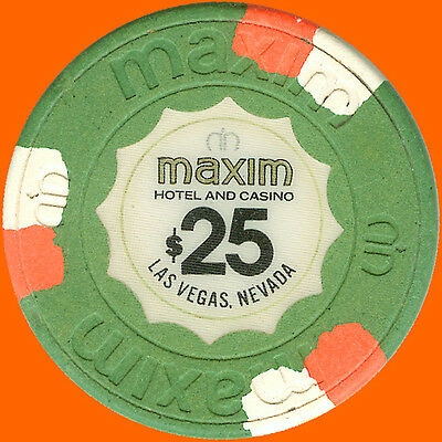 Maxim $25 1977 Obsolete Casino Chip Las Vegas Nv - Free Shipping