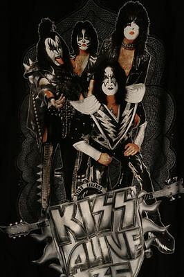 KISS Alive 35 Tour Shirt Lg Large