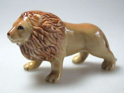 Handicraft Miniature Collectible Ceramic Porcelain Lion Figurine Wildlife